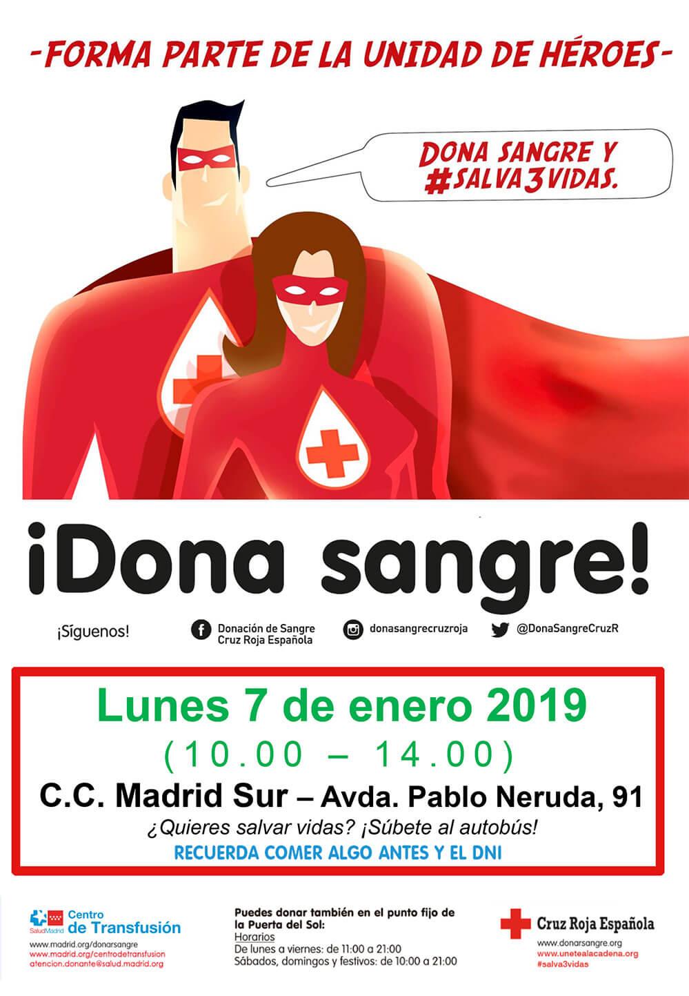 Donas Sangre en Centro Comercial Madrid Sur de Vallecas